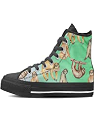 Gnarly Tees Womens Sloth Shoes High Top