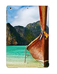 Hot Fashion CDwSgju696vGVOe Design Case Cover For Ipad Air Protective Case (boat On Exotic Beach )