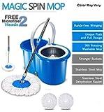TAVISH Plastic Mop (Standard, Blue)
