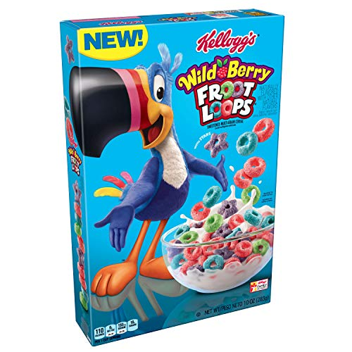 Kellogg's Froot Loops,Breakfast Cereal, Wild Berry,10.1 oz Box