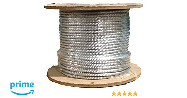 3/32 7x19 Stainless Steel Aircraft Cable T304 250\' Reel: Amazon.com ...