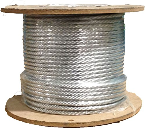 3/16 7x19 Stainless Steel Wire Rope Aircraft Cable T304 250' Reel ()