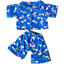 """Stuffems Toy Shop Sunny Days Blue Pj's Teddy Bear Clothes Outfit Fits Most 14"""" - 18"""" Build-A-Bear, Vermont Teddy Bears, and Make Your Own"""
