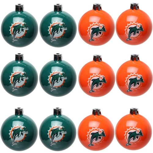 Amazon.com: Forever Collectibles NFL Ball Ornament (Set of 12) NFL Team: Miami  Dolphins: Home & Kitchen - Amazon.com: Forever Collectibles NFL Ball Ornament (Set Of 12) NFL