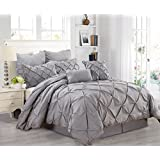 Fashion Street Athena 8 Piece Comforter Set, King, Gray