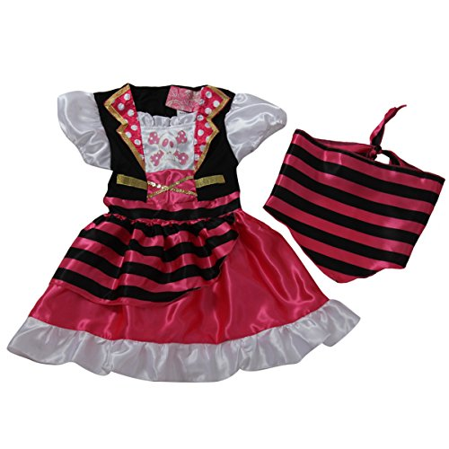 Pink Pirate Girl Costume Size 6/8