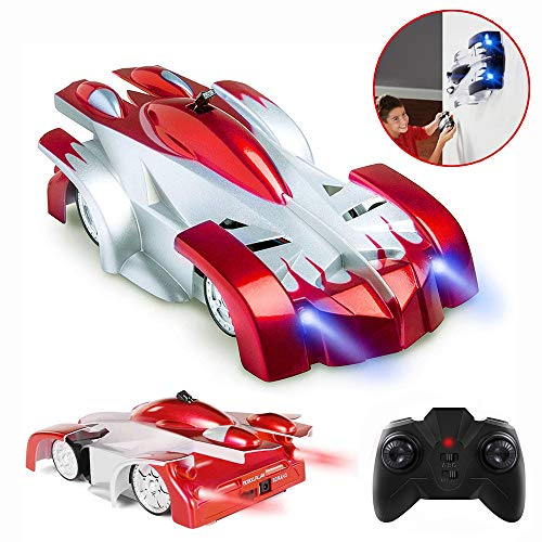 Toy Cars for 5-10 Year Old Boys Girls JoyJam Wall Climbing Car RC Car for Kids 360° Rotating Stunt Marvel Toy Cars Birthday Gifts PQC Red