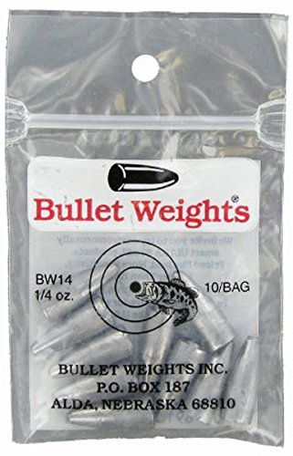 (Permacolor Bullet Weights 1/4 oz Fishing Worm Weights 10 Count Bag Unpainted)