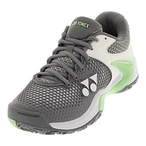 Yonex Power Cushion Eclipsion 2 Womens Tennis Shoe, Gray/Pale Green (10.5)
