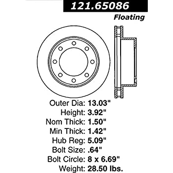 Amazon com: Centric Parts 121 65069 Premium Brake Rotor for 1999