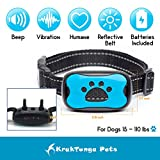 Krak-Tunga Anti Bark Collar, No Shock Dog Bark Collar-Training Collar With Vibration & Sound -No Harm-Free Gift Led Clip