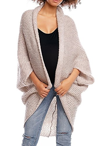 Happy Mama. Womens Maternity Knit Cocoon Cardigan Dolman Sleeve Pregnancy. 364p (Ecru, ONE Size - FITS All) by Happy Mama Boutique