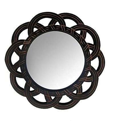 fancy mirror frame. Onlineshoppee MDF Antique With Handicraft Work Fancy Design Mirror Frame