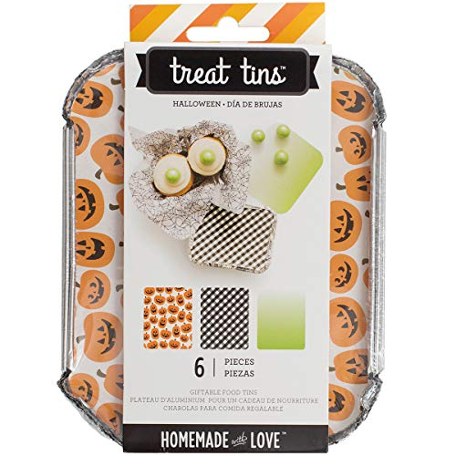 American Crafts Homemade with Love Food Craft Treat Tins Halloween Small (12 Pack) -