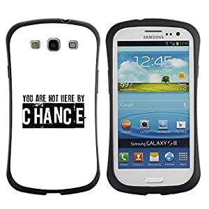 LASTONE PHONE CASE / Suave Silicona Caso Carcasa de Caucho Funda para Samsung Galaxy S3 I9300 / BIBLE You Are Not Here By Chance