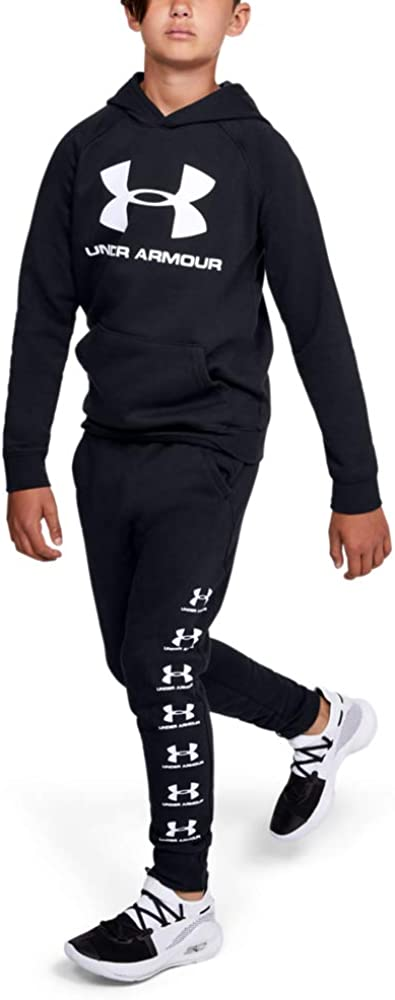 Under Armour boys Rival Logo Hoodie : Clothing