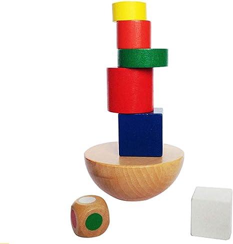 LIPETLI Bolso Hemisferio Equilibrar Torre Tradicional Jenga Juguetes Bloques Juguete Habilidad Educativo Juego Equilibrio Torre Madera Apilamiento Bloques Madera Niños Family: Amazon.es: Deportes y aire libre