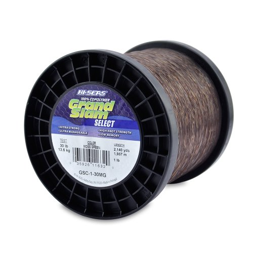 HI-SEAS Grand Slam Copolymer Fishing Line, Moss Green, 30-Pound