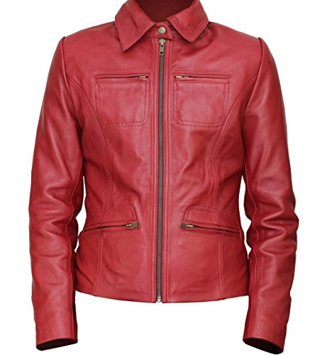 Assassin's Creed Costume Ideas (Once Upon A Time Costume Ideas Red Emma Swan Real Leather Outwear Jacket For Her 3XL)
