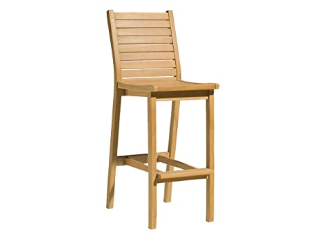 Oxford Garden Dartmoor Shorea Bar Chair, Natural