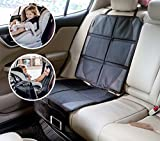 Aidle Car Seat Protector + Kick Mat Auto Seat Back Protector With 2 Organizer Pockets, Durable Quality Seat Covers + Waterproof Kick Guards To Protect Your Leather And Upholstery Seats From Damage