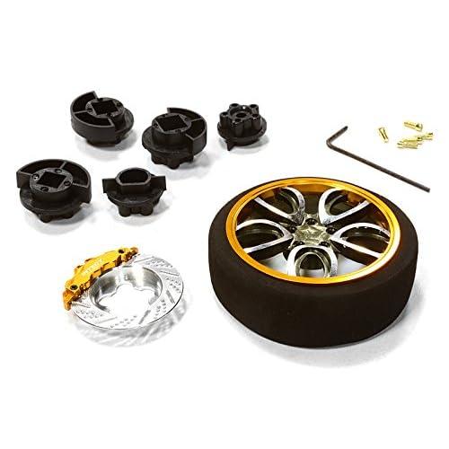 Integy RC Model Hop-ups C26404GUNGOLD V10 Spoke Steering Wheel Set for Most HPI, Futaba, Airtronics, Hitec & KO