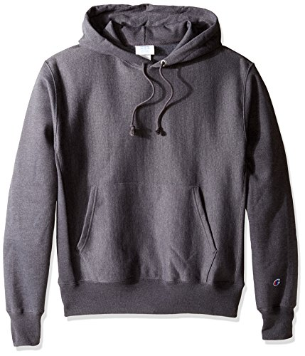 Champion LIFE Men's Reverse Weave Pullover Hoodie, Granite Heather, - Champion Heavyweight Hoodie
