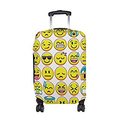 5a607259857b good U LIFE Cute Happy Emoji Emotion Faces Luggage Suitcase Cover ...