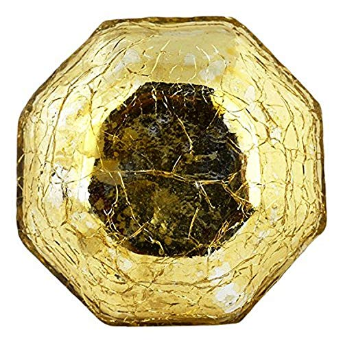 IntradeGlobal Mercury Gold Crackle Glass Cabinet Knobs, Set of 4