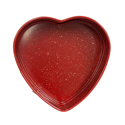 casaWare Heart Springform 10-Inch Pan, Ceramic Coated NonStick Red Granite by casaWare (Image #3)