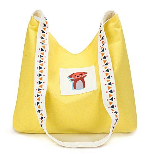 Shopping Canvas Beach Bageek Bsg Handbags Tote Tote Women Summer Bag Bag Yellow Bag 64pvxqg