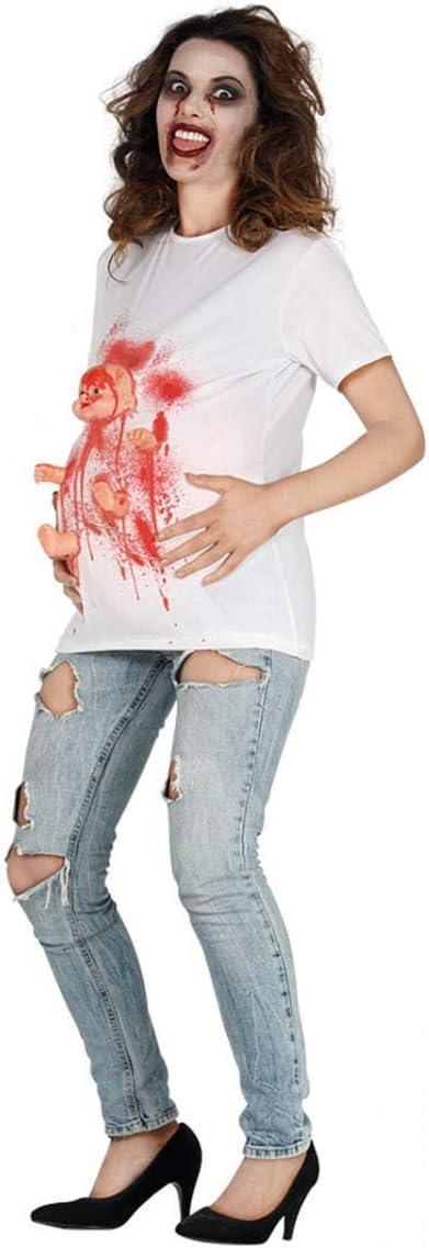 Horror-Shop Camisa del Traje De La Mujer Embarazada Zombie L ...