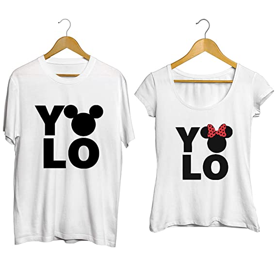 Buy Fashion And Youth Yo Lo Design Couple T Shirt At Amazon In