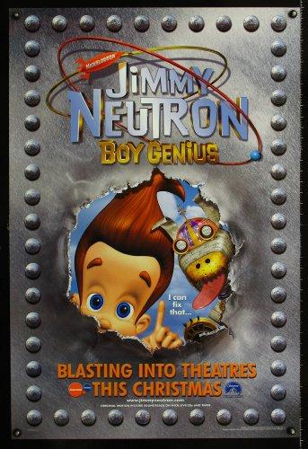 jimmy-neutron-boy-genius-ds-advance-one-sheet-movie-poster-01-nickelodeon-sci-fi-cartoon-great-image