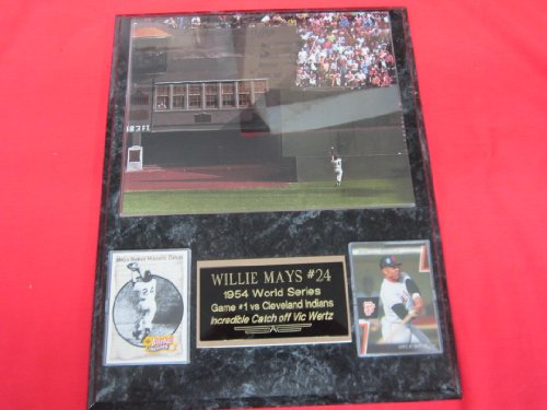 - Willie Mays World Series Catch 2 Card Collector Plaque w/8x10 RARE Photo #2