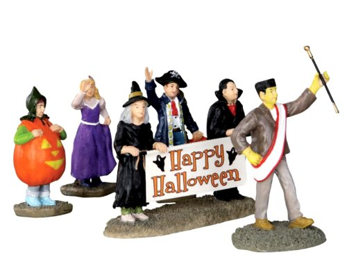 Lemax 32115 Halloween Parade Banner Spooky Town Figure Set of 5 Decor Figurine ()