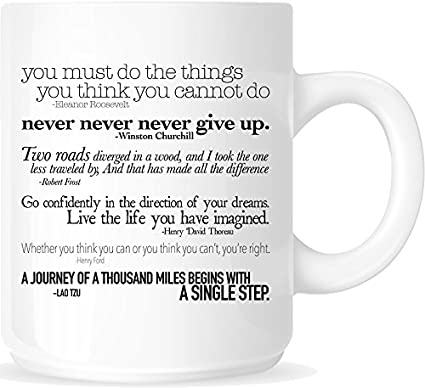 d03b336e54b Image Unavailable. Image not available for. Color  Inspirational Quotes  11oz. Ceramic Coffee Mug ...