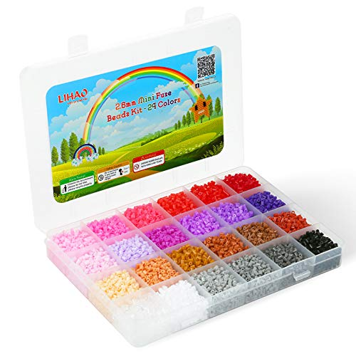 Mini fuse Beads 2.6mm 24 colores total 12000 unidades