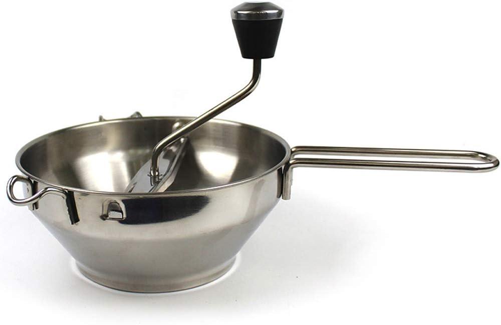 Suszian Licuadora de papas, Licuadora de papas de acero inoxidable Mezclador de papas de cocina con 3 discos de licuado Mezclador de vegetales para mezclar papas
