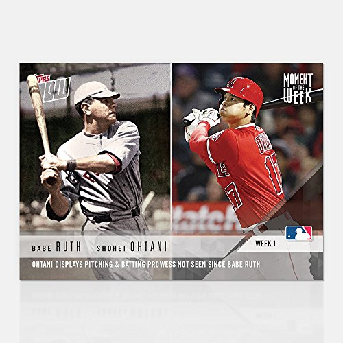 2018 SHOHEI OHTANI BABE RUTH PITCH & BAT TOPPS NOW for sale  Delivered anywhere in USA