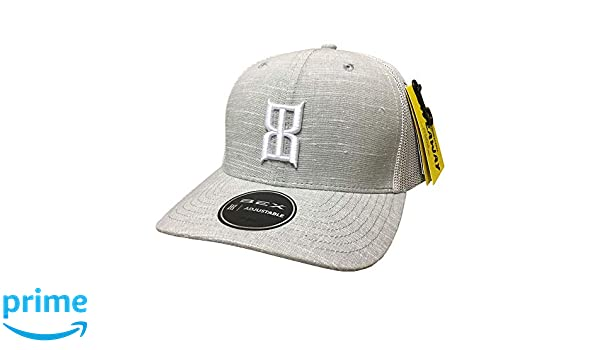 791dc66086b BEX White Gray Slub Adjustable Snapback Hat at Amazon Men s Clothing store