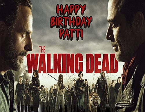 Walking Dead Season 8 Cast Personalized Edible Frosting Image 1/4 sheet Cake Topper -