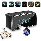WiFi Spy Hidden Camera-SILLEYE 1080P Clock Hidden Camera Mini Nanny Cam with Motion Detection,Night Vision,3000mAh Battery,Indoor Use