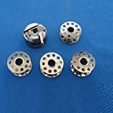 Tinksky 5 in 1 Durable Domestic Sewing Machine Metal Bobbin Case with 4 Bobbins for Brother /Singer /Janome /Newhome