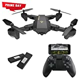 AURELIO TECH RC Foldable Flight Path FPV VR Wi-Fi RC Quadcopter 2.4 GHz 6-Axis Gyro Remote Control Drone with 720P HD, 2MP Camera Drone, Bonus Battery
