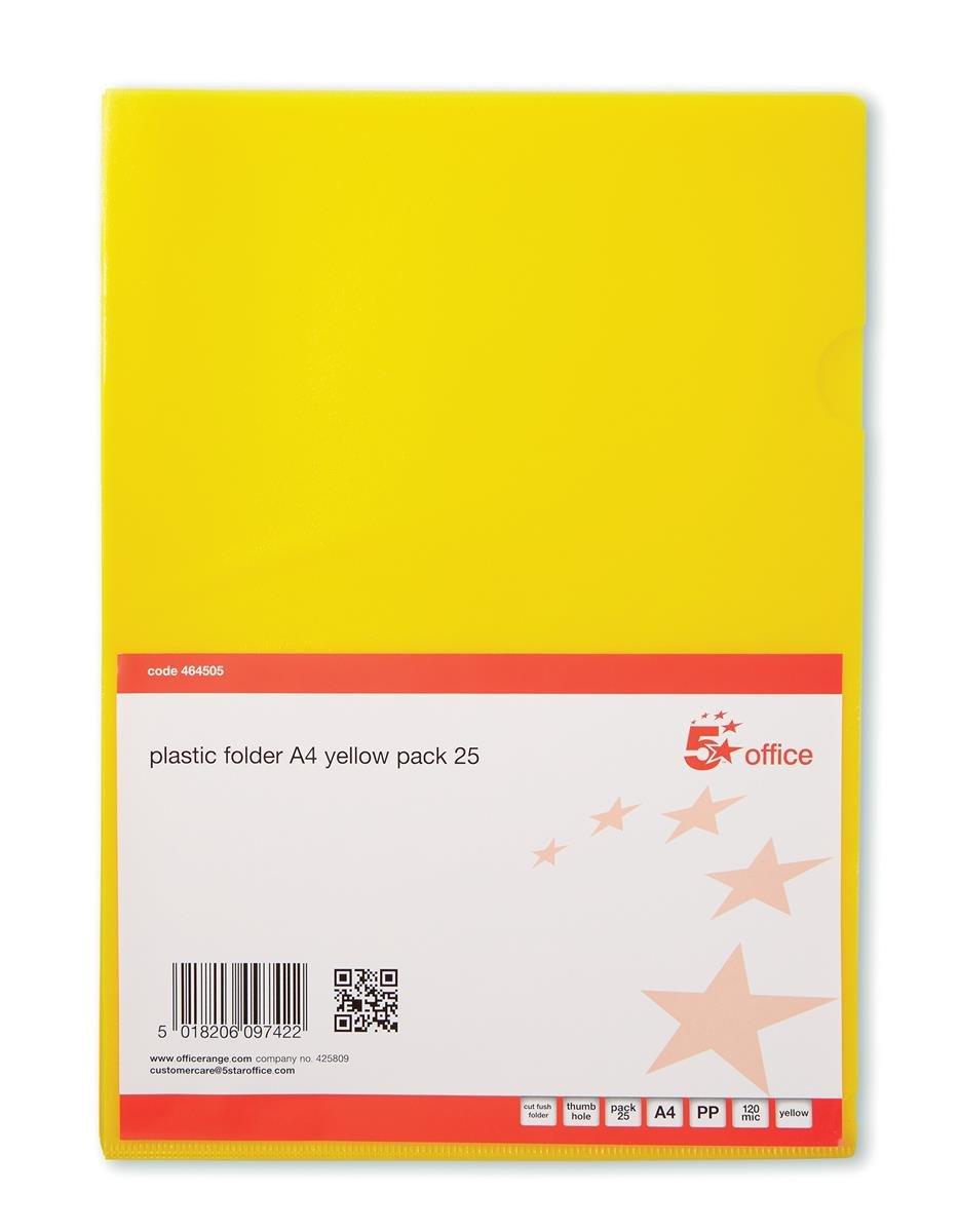 5 Star - Fundas (polipropileno translúcido, A4, 25 unidades) color azul: Amazon.es: Oficina y papelería