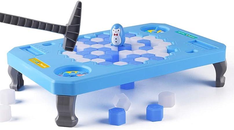 Bloque de hielo pingüino trampa juego de mesa, guardar el pingüino en bloques de hielo juego de Puzzle, activar divertido partido de la familia Mini Juego de mesa para niños paternidad interactivo,L: