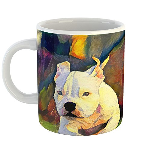Westlake Art - Coffee Cup Mug - Dogs Pitbull Puppy - Modern Abstract Artwork Home Office Birthday Gift - 11oz (69m 33f 5e5) (Bull Red Nose Pit Puppies)