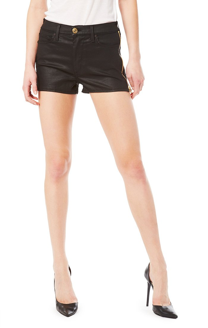True Religion - Womens Ava High Rise Cut Off Shorts, Size: 26, Color: Jet Black by True Religion