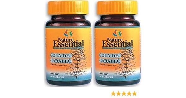Cola de Caballo 500mg 60 Tabletas. Nature Essential (Pack 2u.): Amazon.es: Salud y cuidado personal
